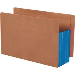 Smead 74689 Blue Extra Wide End Tab File Pockets With Reinforced Tab And Colored Gusset - File Folders & Wallets