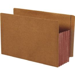Smead 74691 Dark Brown Extra Wide End Tab File Pockets With Reinforced Tab And Colored Gusset - File Folders & Wallets