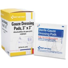 "First Aid Only 3""x3"" Gauze Pads Dispenser Box - Office Safety"