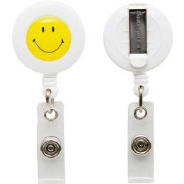 Baumgartens Smiley Face ID Card Reel with Belt Clip - Id card