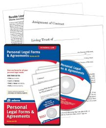 Personal Legal Forms & Agreements, cd - Office Supplies