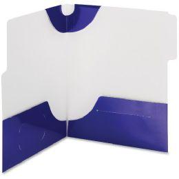 20 Units of Smead 87964 Blue Supertab TwO-Pocket File Folder - File Folders & Wallets