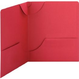Smead 87980 Red Lockit TwO-Pocket File Folder - File Folders & Wallets