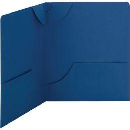 Smead 87982 Dark Blue Lockit TwO-Pocket File Folder - File Folders & Wallets