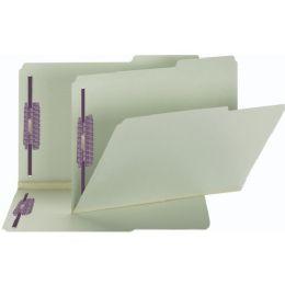 Smead Gray/green Pressboard Fastener Folders - Fasteners