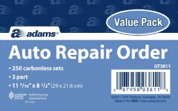 2 Units of Garage Repair Order, 3-Part, Carbonless, 250/pk - Office Supplies