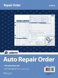 5 Units of Garage Repair Order, 3-Part, Carbonless, 50/pk - Office Supplies