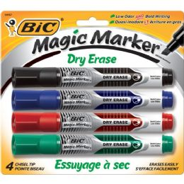 36 Units of BIC Chisel Tip Dry Erase Magic Markers - Dry erase
