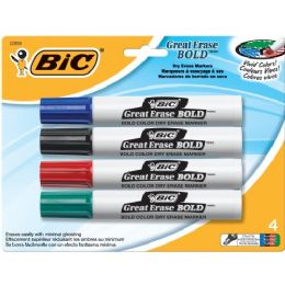 72 Units of BIC Great Erase Dry Erase Markers - Dry erase