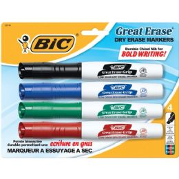 72 Units of BIC Great Erase Low Odor Whiteboard Markers - Markers