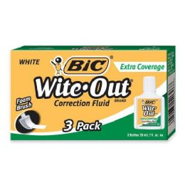 48 Units of BIC Wite-Out Extra Coverage Correction Fluid - Office Supplies