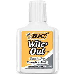12 Units of BIC Wite-Out Quick Dry Correction Fluid - Office Supplies