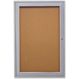 Ghent 1-Door Enclosed Indoor Bulletin Board - Bulletin Boards & Push Pins