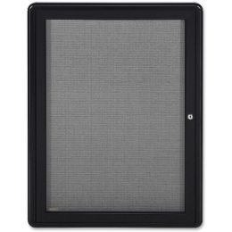 Ghent 1-Door Ovation Enclosed Fabric Bulletin Board - Bulletin Boards & Push Pins