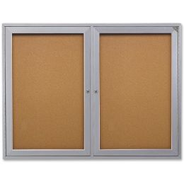 Ghent 2-Door Enclosed Indoor Bulletin Board - Bulletin Boards & Push Pins