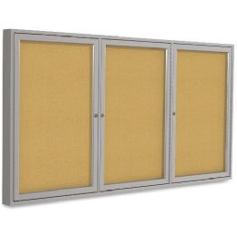 3 Units of Ghent 3-Door Indoor Enclosed Bulletin Board - Bulletin Boards & Push Pins