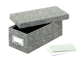 "12 Units of GlobE-Weis Fiberboard Index Card Storage Boxes, 3"" X 5"" Card Size, Black, Agate - Boxes & Packing Supplies"