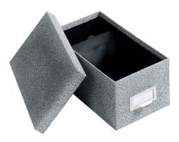 "12 Units of GlobE-Weis Fiberboard Index Card Storage Boxes, 4"" X 6"" Card Size, Black, Agate - Boxes & Packing Supplies"
