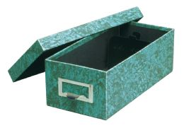 "6 Units of GlobE-Weis Fiberboard Index Card Storage Boxes, 5"" X 8"" Card Size, Green, Agate - Boxes & Packing Supplies"