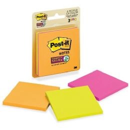Post-it 3x3 Super Sticky Jewel Pop Coll. Notes - Office Supplies