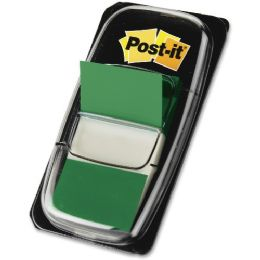 Post-it Flags Value Pack, Green, 1 in Wide, 50/Dispenser, 12 Dispensers/Pack - Flag