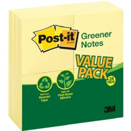 Post-it Greener Notes Recycled Pads - Adhesive note