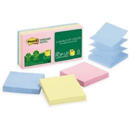 PosT-It Greener PoP-Up Notes Original Recy Pads - Adhesive note