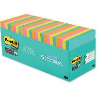 Post-it Miami Super Sticky Notes Cabinet Pack - Adhesive note
