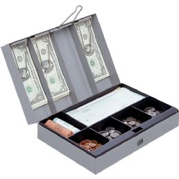Sparco Steel Combination Lock Cash Box - Office Clipboards