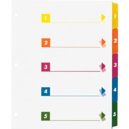 Sparco Table Of Contents Index Dividers - Dividers & Index Cards