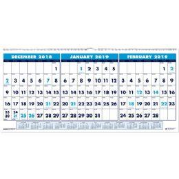 House Of Doolittle 3-Month Horizontal Wall Calendar - Calendar