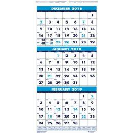 House Of Doolittle 3-Month Vertical Compact Wall Calendar - Calendar