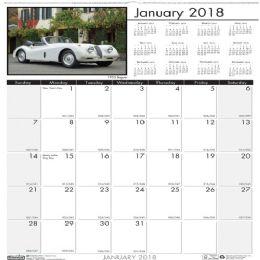 17 Units of House Of Doolittle Classic Cars Wall Calendar - Calendar