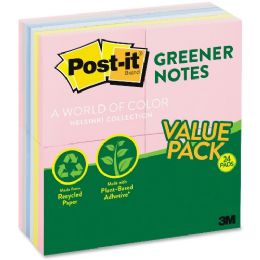 PosT-It Sunwashed Greener Recycled Pads Valupak - Adhesive note