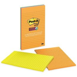 Post-it Super Sticky 5x8 Jewel Pop Lined Pads - Adhesive note