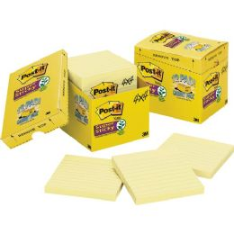 PosT-It Super Sticky Canary Lined Cabinet Pack - Adhesive note