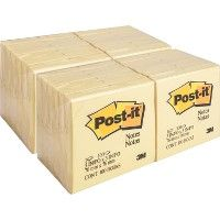 PosT-It® Canary Yellow Original Note Pads - Adhesive note