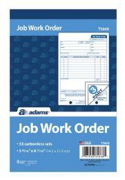 10 Units of Job Work Order Book, 3-Part, Carbonless, 33 ST/BK - Order book