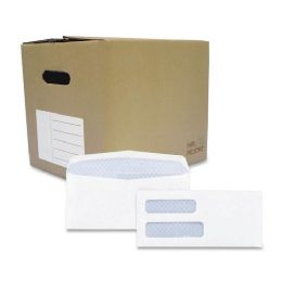 Quality Park Double Window Tinted Envelope - Envelopes
