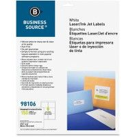 Business Source Bright White Address Labels - Labels
