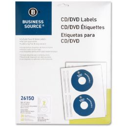 145 Units of Business Source Cd/dvd Inkjet Label - Labels