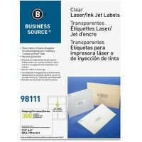 Business Source Clear Address Labels - Labels