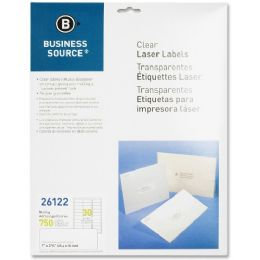 Business Source Clear Mailing Label - Labels
