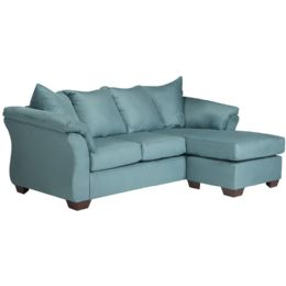 Signature Design by Ashley Darcy Sofa Chaise in Sky Microfiber - Sofas
