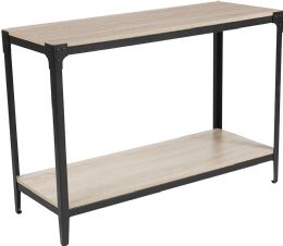 Northvale Collection Sonoma Oak Wood Finish Console Table with Black Metal Legs - Sofa