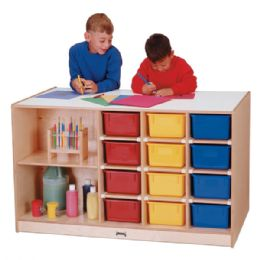 Jonti-Craft Mobile Storage Island - with Colored Trays - Art