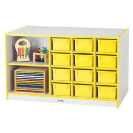 Rainbow Accents Mobile Storage Island - with Trays - Orange - Art