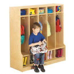 JontI-Craft 5 Section Coat Locker With Step - Lockers