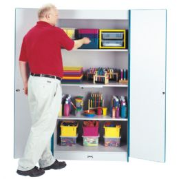 Rainbow Accents Classroom Closet Deluxe - Orange - Teachers