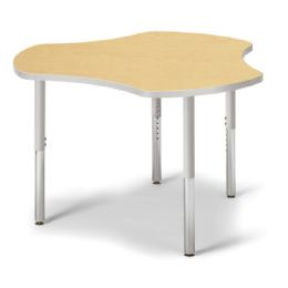 "Berries Collaborative Hub Table - 44"" X 47"" - Maple/Gray - Berries"